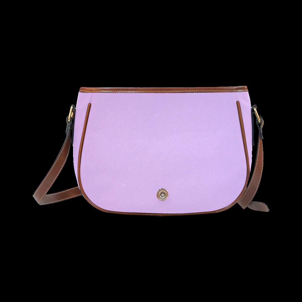 Purple ASL I Love You Saddle Bag/Large (Model 1649)