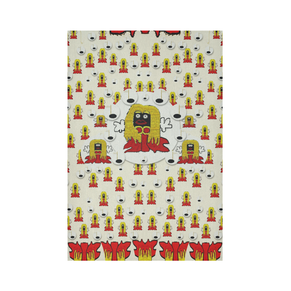 """Jynx is singing Cotton Linen Wall Tapestry 60""""x 90"""""""