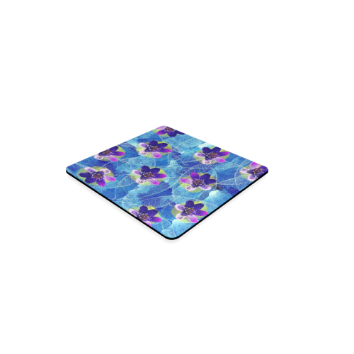 Purple Flowers Square Coaster