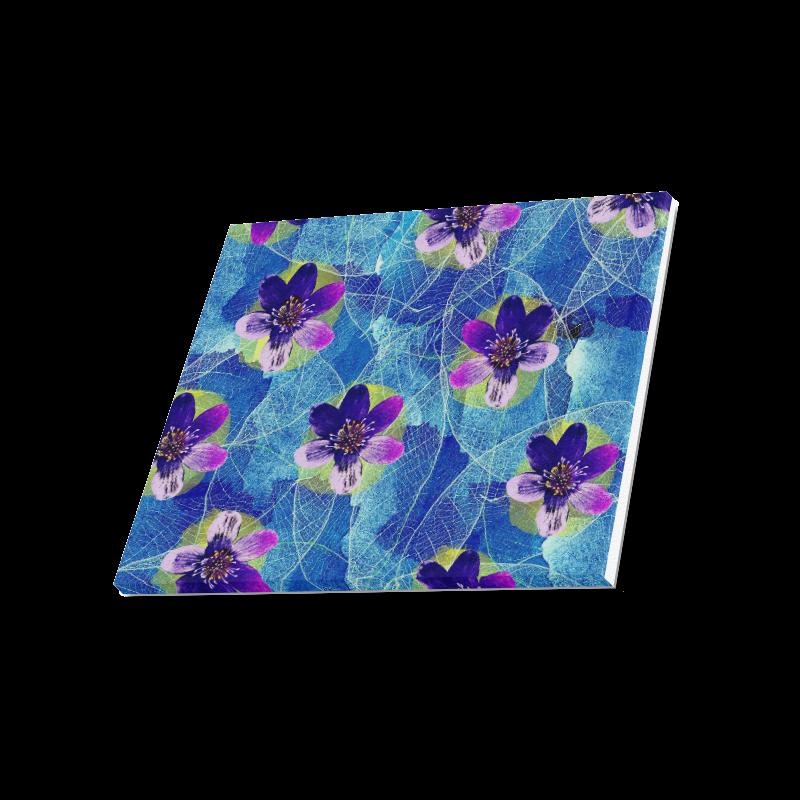 "Purple Flowers Canvas Print 20""x16"""