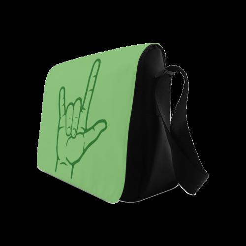 Green ASL I Love You Messenger Bag (Model 1628)