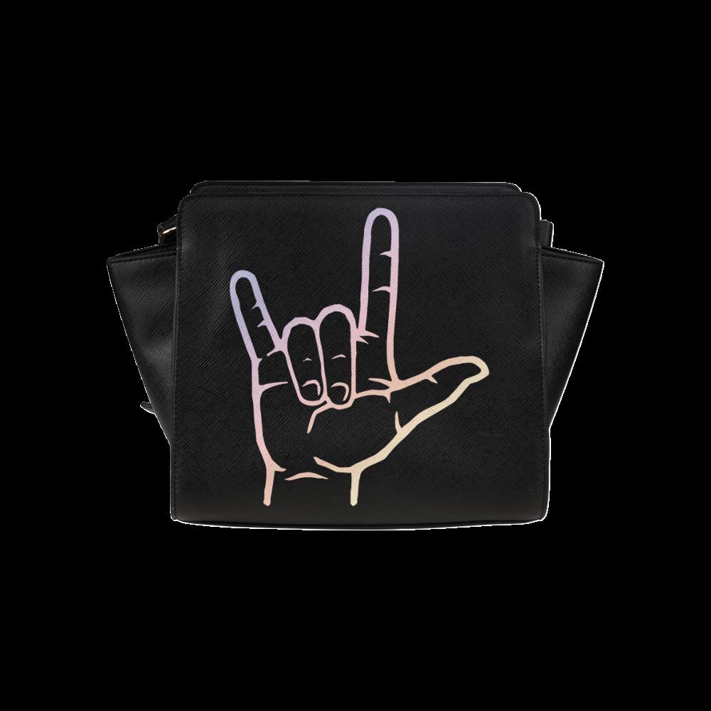Pastel ASL I Love You Satchel Bag (Model 1635)