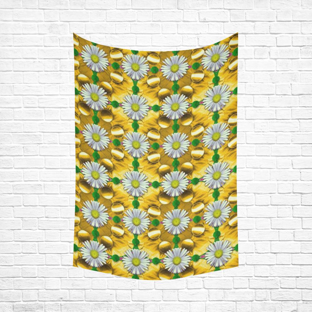 """Summer festive in green grass Cotton Linen Wall Tapestry 60""""x 90"""""""