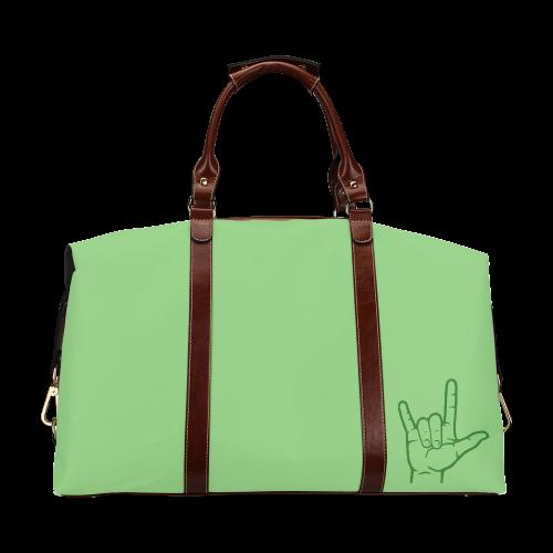 Green ASL I Love You Classic Travel Bag (Model 1643)