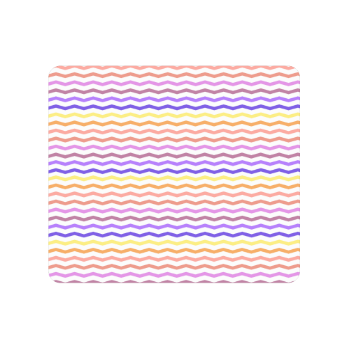 Colorfull Zig Zag Pattern Chevron White Men's Clutch Purse (Model 1638)