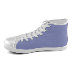 Deep Periwinkle Women's High Top Canvas Shoes (Model 002)