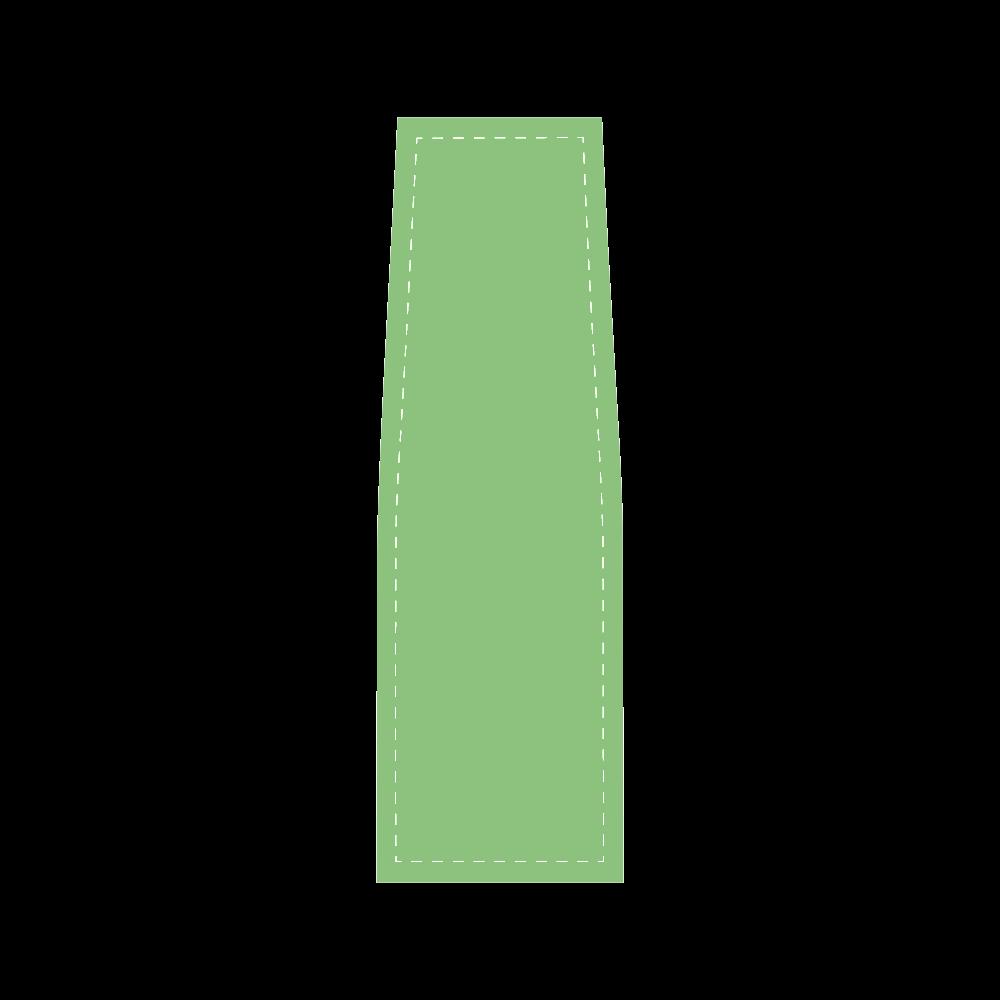 Green ASL I Love You Saddle Bag/Large (Model 1649)
