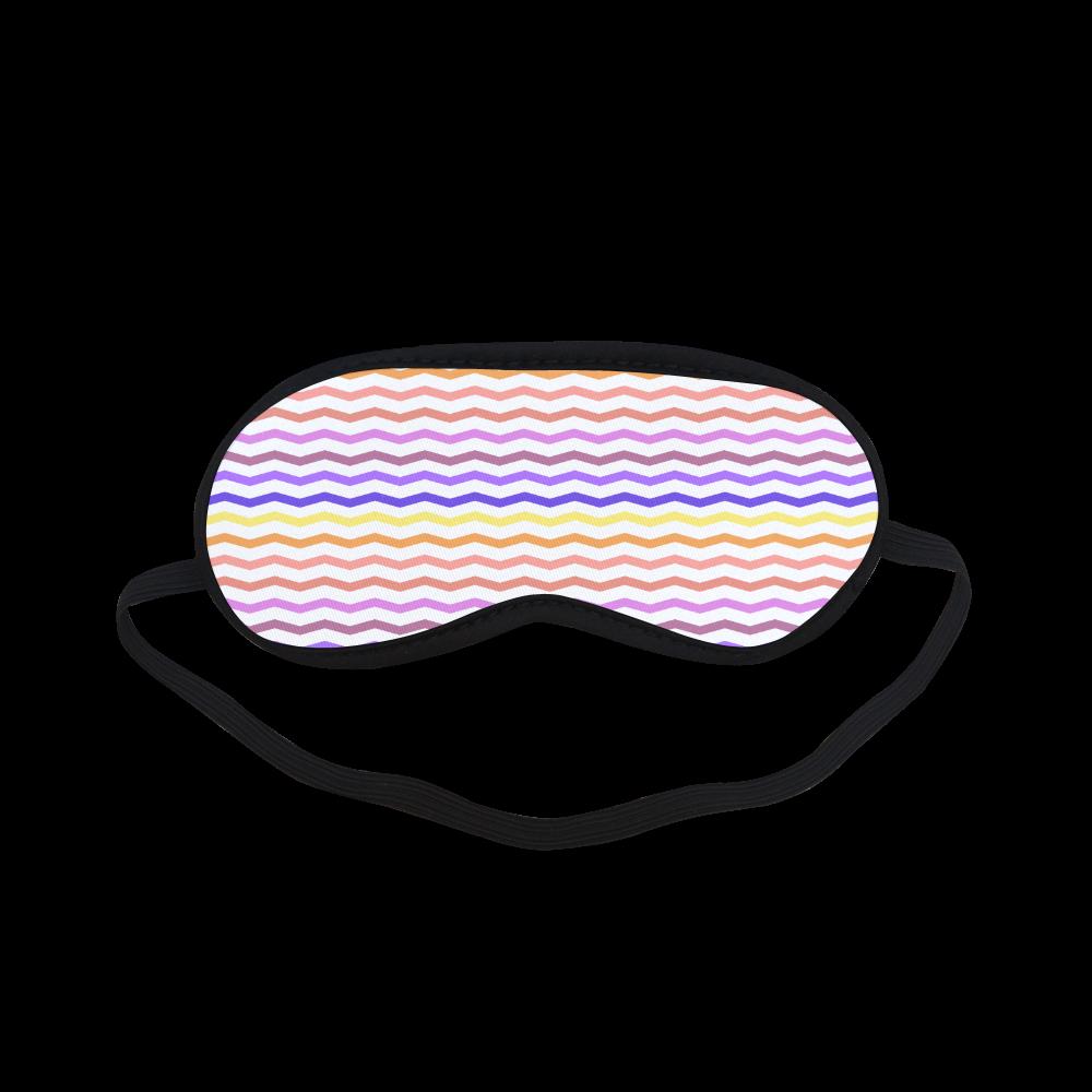 Colorful Zig Zag Pattern Chevron White Sleeping Mask