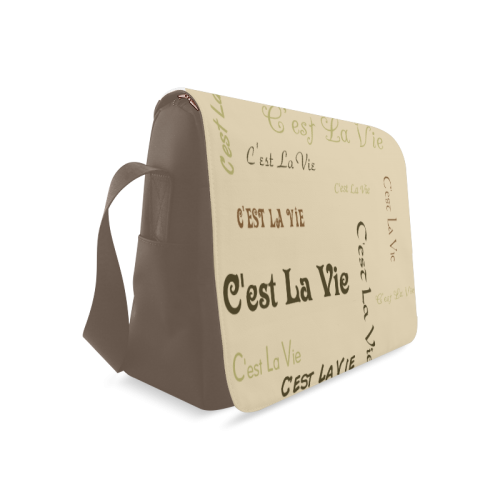 Coffee C'est La Vie Messenger Bag (Model 1628)
