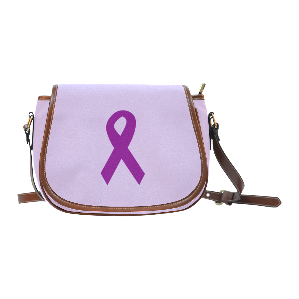 Dark Purple Ribbon Saddle Bag/Large (Model 1649)