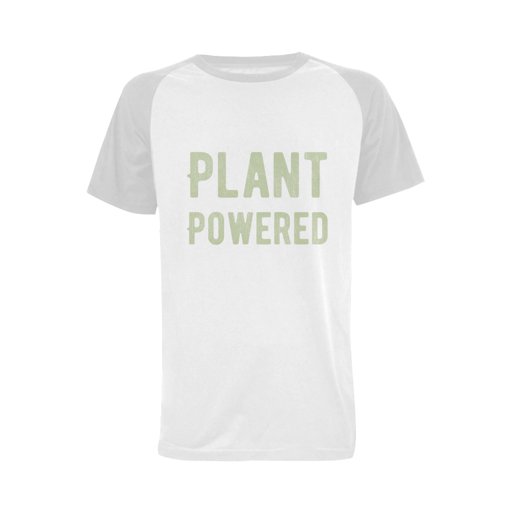 Vegan Plant Powered Think Green Veganism Men's Raglan T-shirt (USA Size) (Model T11)