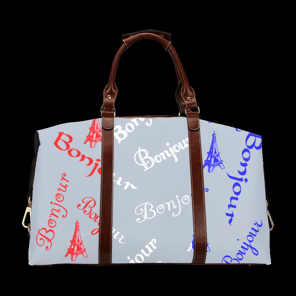 French Flag Bonjour Classic Travel Bag (Model 1643)