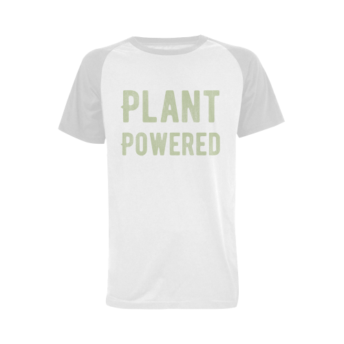 Vegan Plant Powered Think Green Veganism Men's Raglan T-shirt Big Size (USA Size) (Model T11)