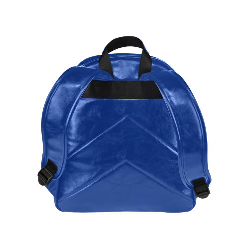 Dark Blue Ribbon Multi-Pockets Backpack (Model 1636)