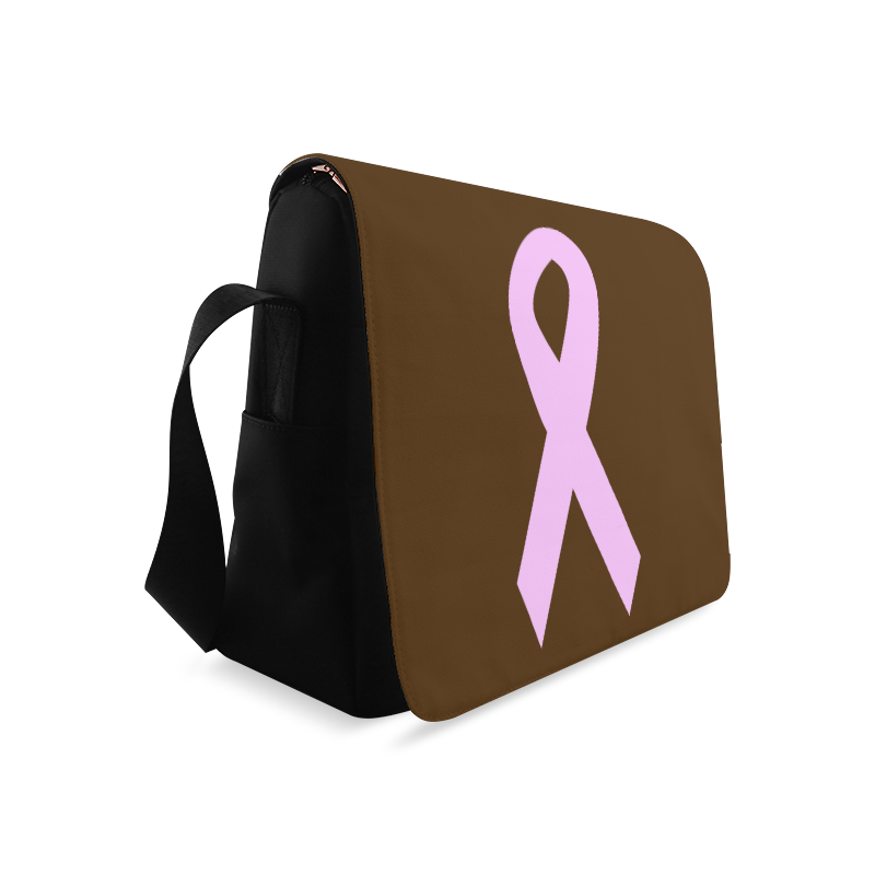 Light Pink Ribbon Messenger Bag (Model 1628)