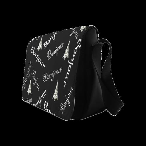 White Bonjour Messenger Bag (Model 1628)