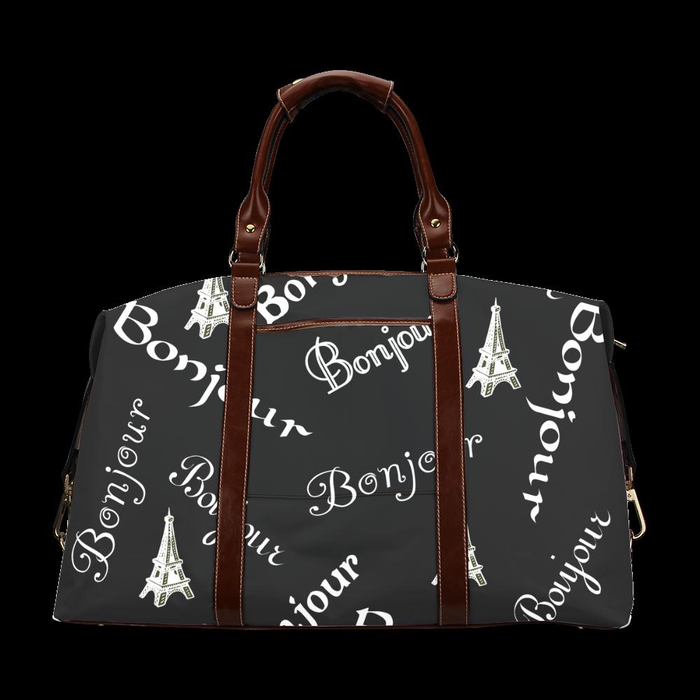 White Bonjour Classic Travel Bag (Model 1643)