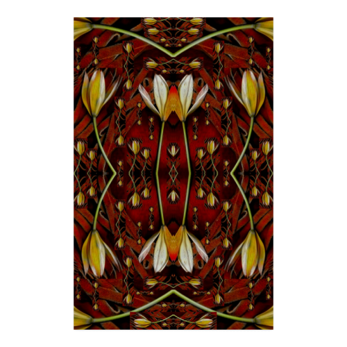 """fantasy flowers and leather in a world of harmony Poster 23""""x36"""""""