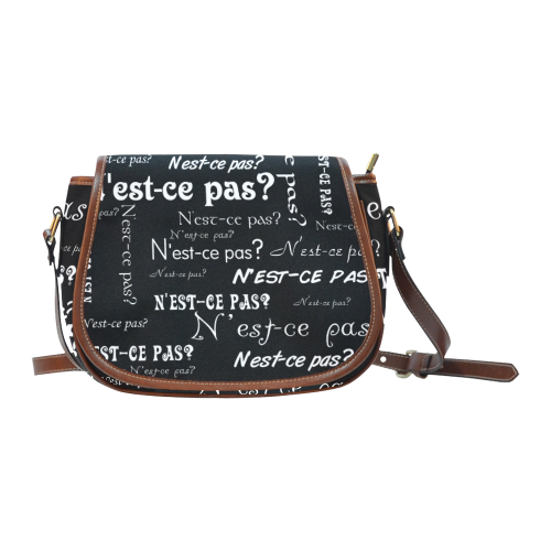 White N'est-ce pas Saddle Bag/Large (Model 1649)