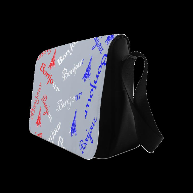 French Flag Bonjour Messenger Bag (Model 1628)