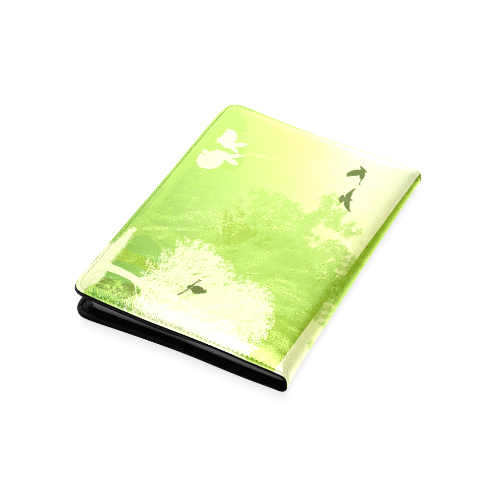 Think Green Rabbit Vegan Animal Liberation Custom NoteBook A5