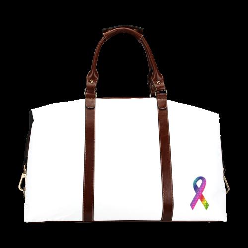 Puzzle Ribbon Classic Travel Bag (Model 1643)