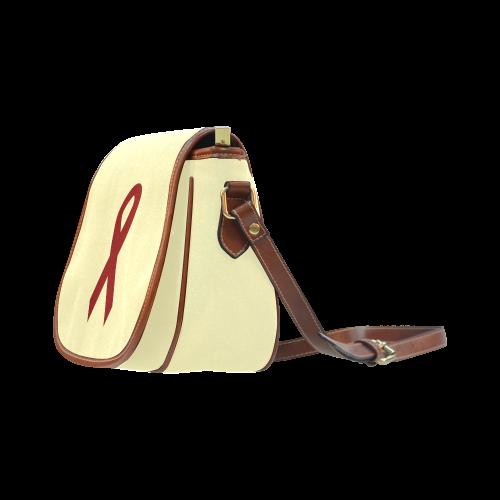 Red Ribbon Saddle Bag/Large (Model 1649)