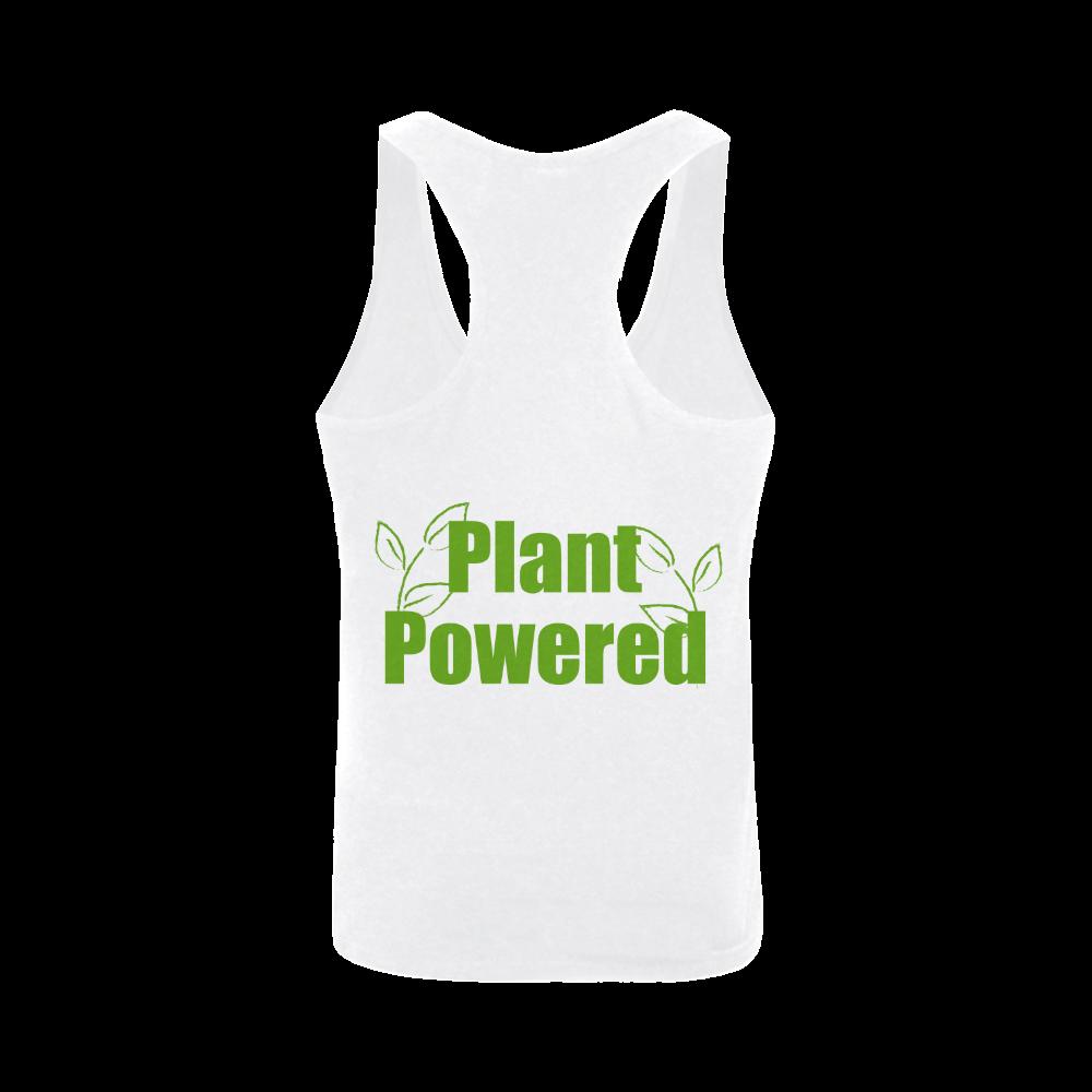 Vegan Plant Powered Think Green Veganism Leafs Plus-size Men's I-shaped Tank Top (Model T32)
