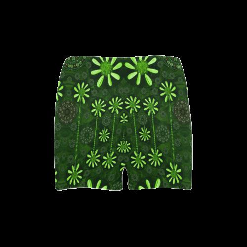 Strawberry flowers in the dark Briseis Skinny Shorts (Model L04)