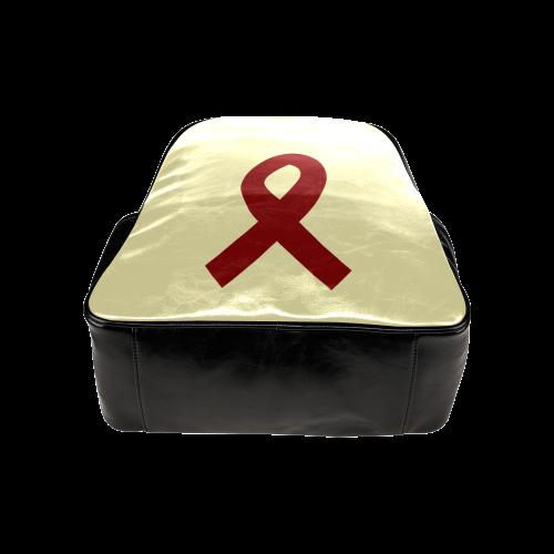 Red Ribbon Multi-Pockets Backpack (Model 1636)