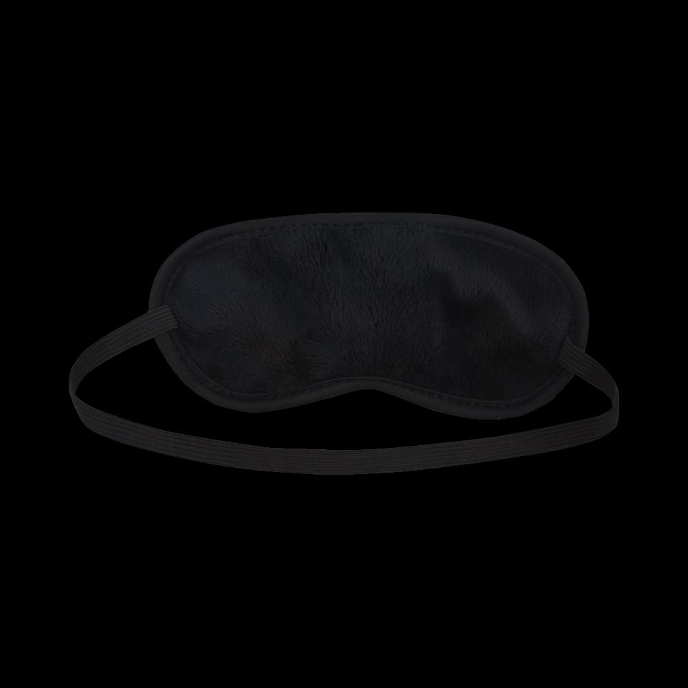 Colorful Zig Zag Pattern Chevron Black Sleeping Mask