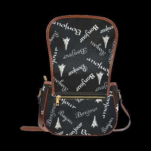 White Bonjour Saddle Bag/Large (Model 1649)