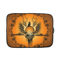 Amazing skull with crow Custom Laptop Sleeve 15''