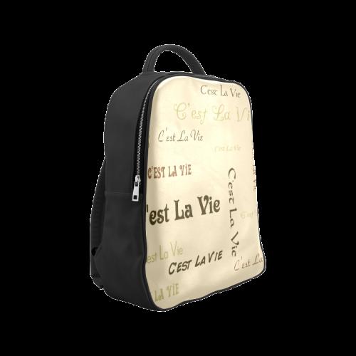 Coffee C'est La Vie Popular Backpack (Model 1622)