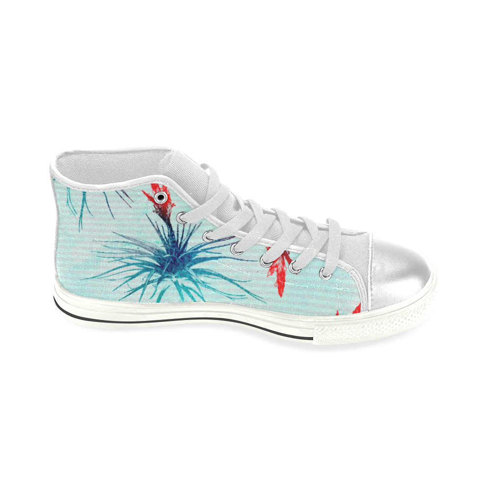 Tillandsia Flower Women's Classic High Top Canvas Shoes (Model 017)