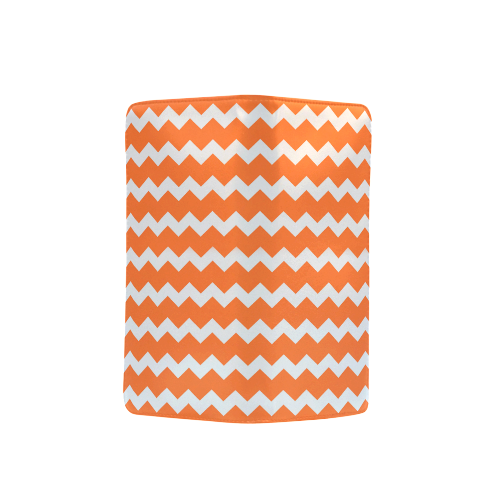 Modern Trendy Pastel Grey Orange Zig Zag Pattern Chevron Men's Clutch Purse (Model 1638)