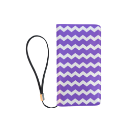 Modern Trendy Pastel Grey Lilac Zig Zag Pattern Chevron Men's Clutch Purse (Model 1638)