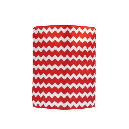 Modern Trendy Pastel Grey Red Zig Zag Pattern Chevron Men's Clutch Purse (Model 1638)