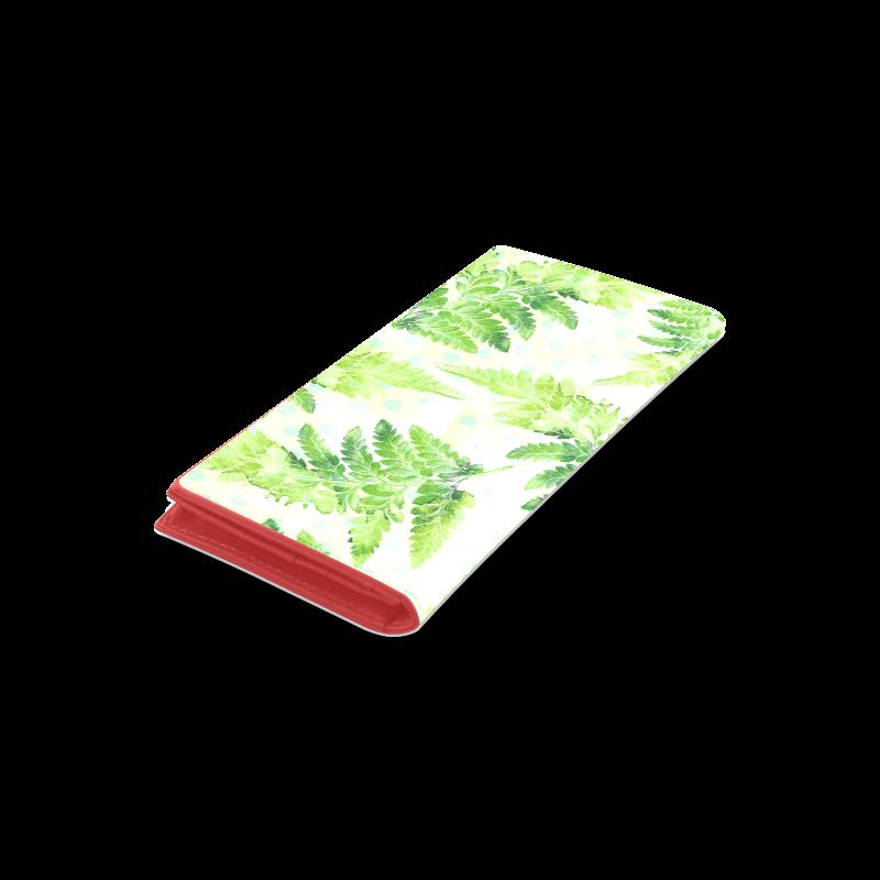 Green Fern Women's Leather Wallet (Model 1611)