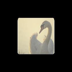 Graceful White Swan Square Coaster