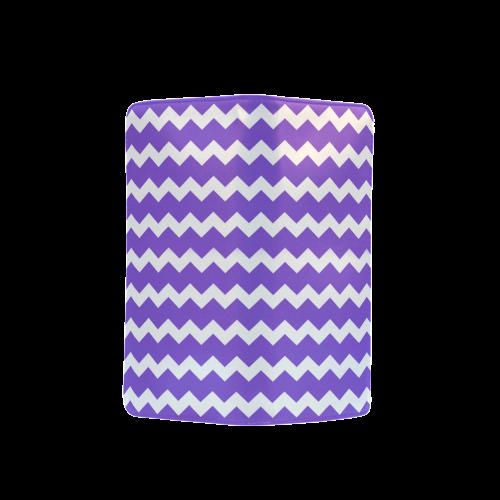 Modern Trendy Pastel Grey Lilac Zig Zag Pattern Chevron Men's Clutch Purse (Model 1638)