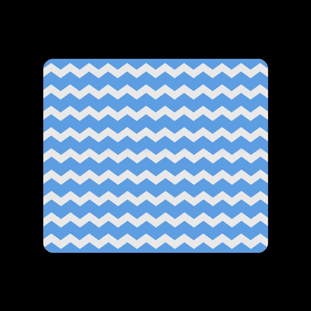 Modern Trendy Pastel Grey Blue Zig Zag Pattern Chevron Men's Clutch Purse (Model 1638)