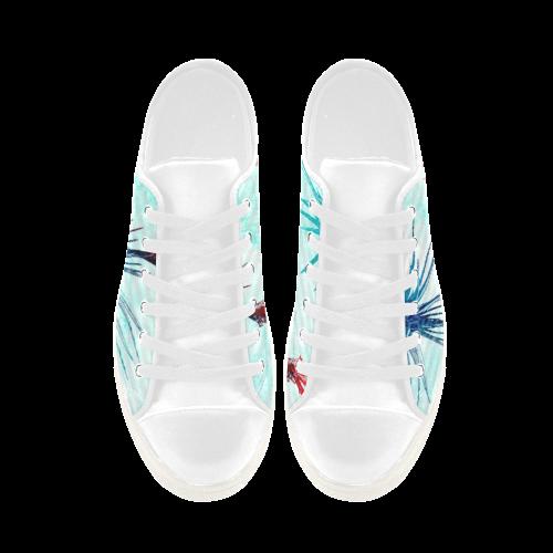 Tillandsia Flower Aquila Microfiber Leather Women's Shoes (Model 028)
