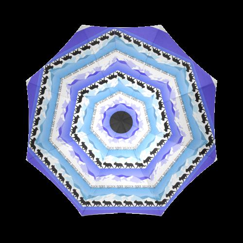 Frenchie Blues Foldable Umbrella (Model U01)