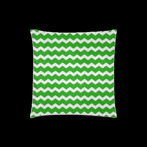 "Modern Trendy Pastell Grey Green Zig Zag Pattern Chevron Custom Zippered Pillow Case 18""x18""(Twin Sides)"