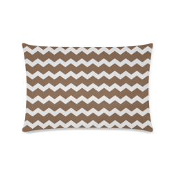 "Modern Trendy Pastell Grey Brown Zig Zag Pattern Chevron Custom Zippered Pillow Case 16""x24""(Twin Sides)"