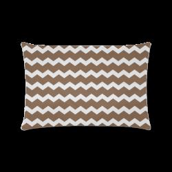 "Modern Trendy Pastell Grey Brown Zig Zag Pattern Chevron Custom Zippered Pillow Case 16""x24""(Twin Sides)"