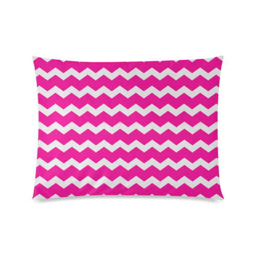 "Girly Modern Trendy Pastell Grey Pink Zig Zag Pattern Chevron Custom Zippered Pillow Case 20""x26""(Twin Sides)"