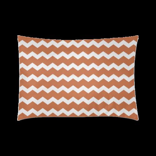 "Modern Trendy Pastell Grey Brown Zig Zag Pattern Chevron Custom Zippered Pillow Case 20""x30""(Twin Sides)"