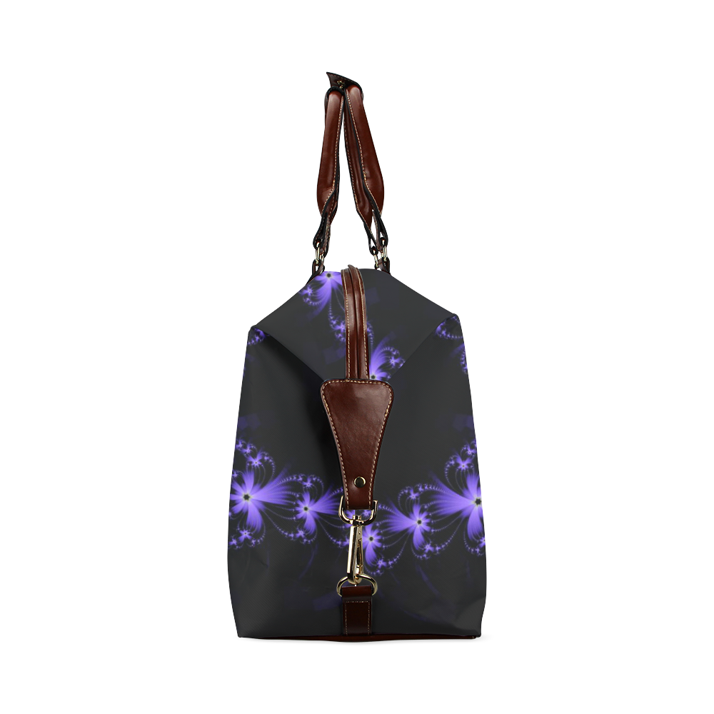 Purple Flower Burst Classic Travel Bag (Model 1643)